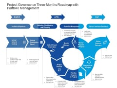 Project Governance Three Months Roadmap With Portfolio Management Inspiration