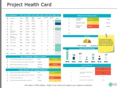 Project Health Card Business Ppt PowerPoint Presentation Summary Samples
