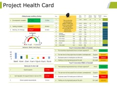 Project Health Card Ppt PowerPoint Presentation File Gallery