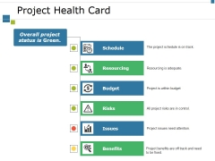 Project Health Card Ppt PowerPoint Presentation Ideas Graphics