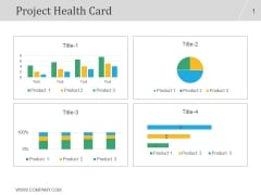 Project Health Card Ppt PowerPoint Presentation Samples
