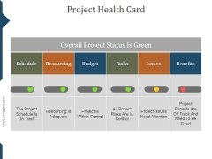 Project Health Card Ppt PowerPoint Presentation Slide Download
