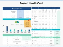 Project Health Card Slide Strategy Ppt PowerPoint Presentation Icon Microsoft