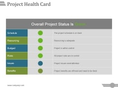 Project Health Card Template 2 Ppt PowerPoint Presentation Graphics
