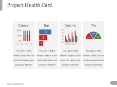 Project Health Card Template 2 Ppt PowerPoint Presentation Ideas