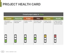 Project Health Card Template 2 Ppt PowerPoint Presentation Infographic Template Layouts