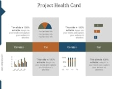 Project Health Card Template Ppt PowerPoint Presentation Backgrounds