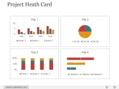 Project Heath Card Ppt PowerPoint Presentation Deck