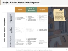 Project Human Resource Management Ppt PowerPoint Presentation Gallery Show