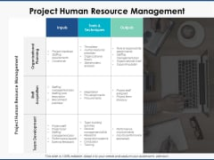 Project Human Resource Management Ppt PowerPoint Presentation Infographic Template Infographics