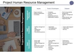 Project Human Resource Management Ppt PowerPoint Presentation Professional Icons