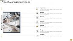 Project Ideation And Administration Project Management Steps Ppt Gallery Microsoft PDF