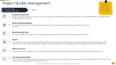 Project Ideation And Administration Project Quality Management Ppt Ideas Elements PDF