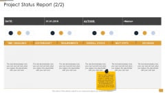 Project Ideation And Administration Project Status Report Ppt Summary Visual Aids PDF