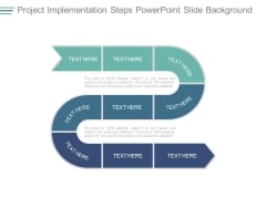Project Implementation Steps Powerpoint Slide Background