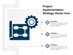 Project Implementation Strategy Vector Icon Ppt PowerPoint Presentation File Graphics Template PDF