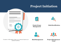 Project Initiation Ppt PowerPoint Presentation Gallery Graphics