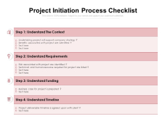 Project Initiation Process Checklist Ppt PowerPoint Presentation Ideas File Formats PDF