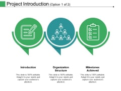 Project Introduction Template 1 Ppt PowerPoint Presentation Show Example Topics