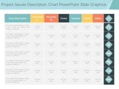 Project Issues Description Chart Powerpoint Slide Graphics