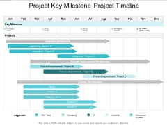 Project Key Milestone Project Timeline Ppt PowerPoint Presentation Show Infographic Template