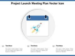 Project Launch Meeting Plan Vector Icon Ppt PowerPoint Presentation Icon Summary PDF