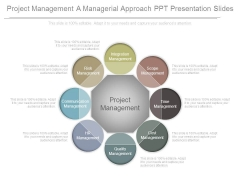 Project Management A Managerial Approach Ppt Presentation Slides