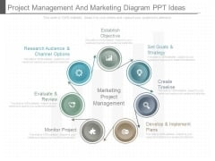 Project Management And Marketing Diagram Ppt Ideas
