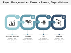 Project Management And Resource Planning Steps With Icons Ppt Powerpoint Presentation Infographics Microsoft