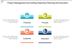 Project Management And Setting Objectives Planning And Execution Ppt PowerPoint Presentation Visual Aids Summary