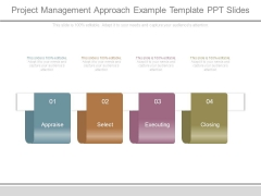 Project Management Approach Example Template Ppt Slides