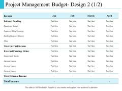Project Management Budget Design Business Ppt PowerPoint Presentation Ideas Slide Download