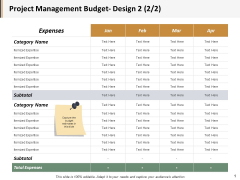 Project Management Budget Design Marketing Ppt PowerPoint Presentation Model Ideas