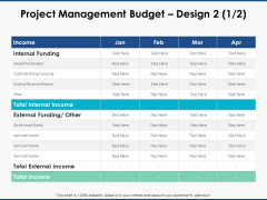 Project Management Budget Design Marketing Ppt PowerPoint Presentation Outline Vector