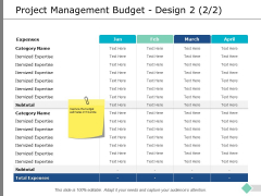 Project Management Budget Design Strategy Ppt PowerPoint Presentation Ideas Outline