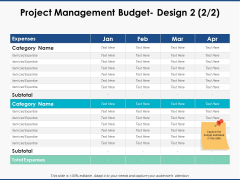 Project Management Budget Design Strategy Ppt PowerPoint Presentation Professional Layouts