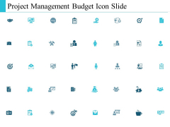 Project Management Budget Icon Slide Ppt PowerPoint Presentation Infographic Template Rules