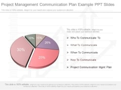 Project Management Communication Plan Example Ppt Slides