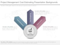 Project Management Cost Estimating Presentation Backgrounds