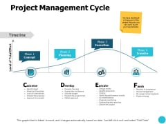 Project Management Cycle Ppt PowerPoint Presentation Slides Icons