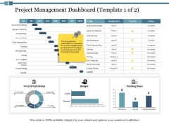 Project Management Dashboard Ppt PowerPoint Presentation Layouts Demonstration