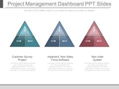 Project Management Dashboard Ppt Slides