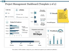 Project Management Dashboard Workload Ppt PowerPoint Presentation Inspiration Show