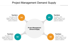 Project Management Demand Supply Ppt PowerPoint Presentation Pictures Layouts Cpb