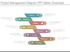 Project Management Diagram Ppt Slides Download