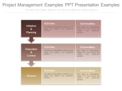 Project Management Examples Ppt Presentation Examples