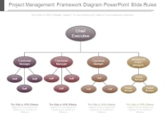 Project Management Framework Diagram Powerpoint Slide Rules