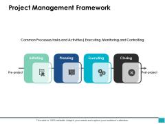 Project Management Framework Ppt PowerPoint Presentation Infographics Background