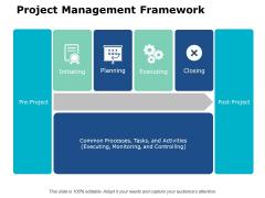 Project Management Framework Ppt PowerPoint Presentation Layout