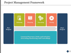 Project Management Framework Ppt PowerPoint Presentation Layouts Samples